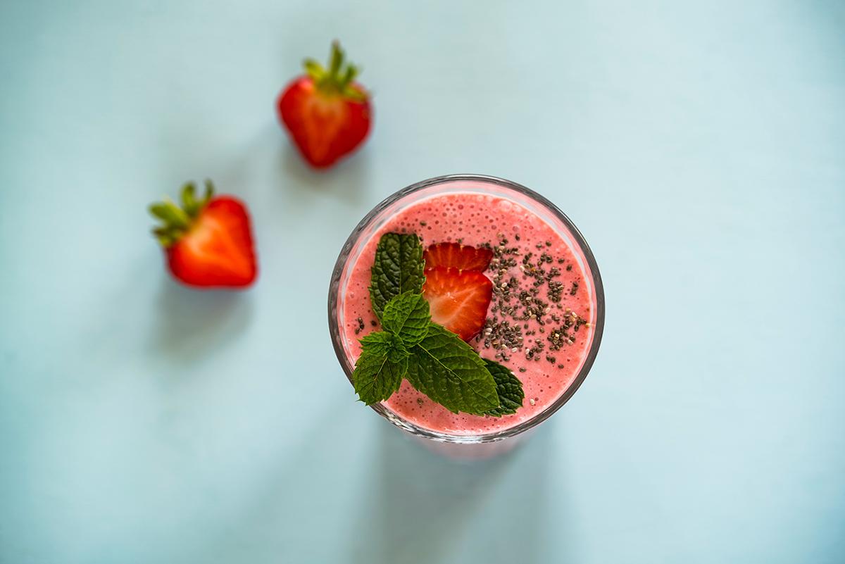 Smoothie à la fraise du Bar à smoothies