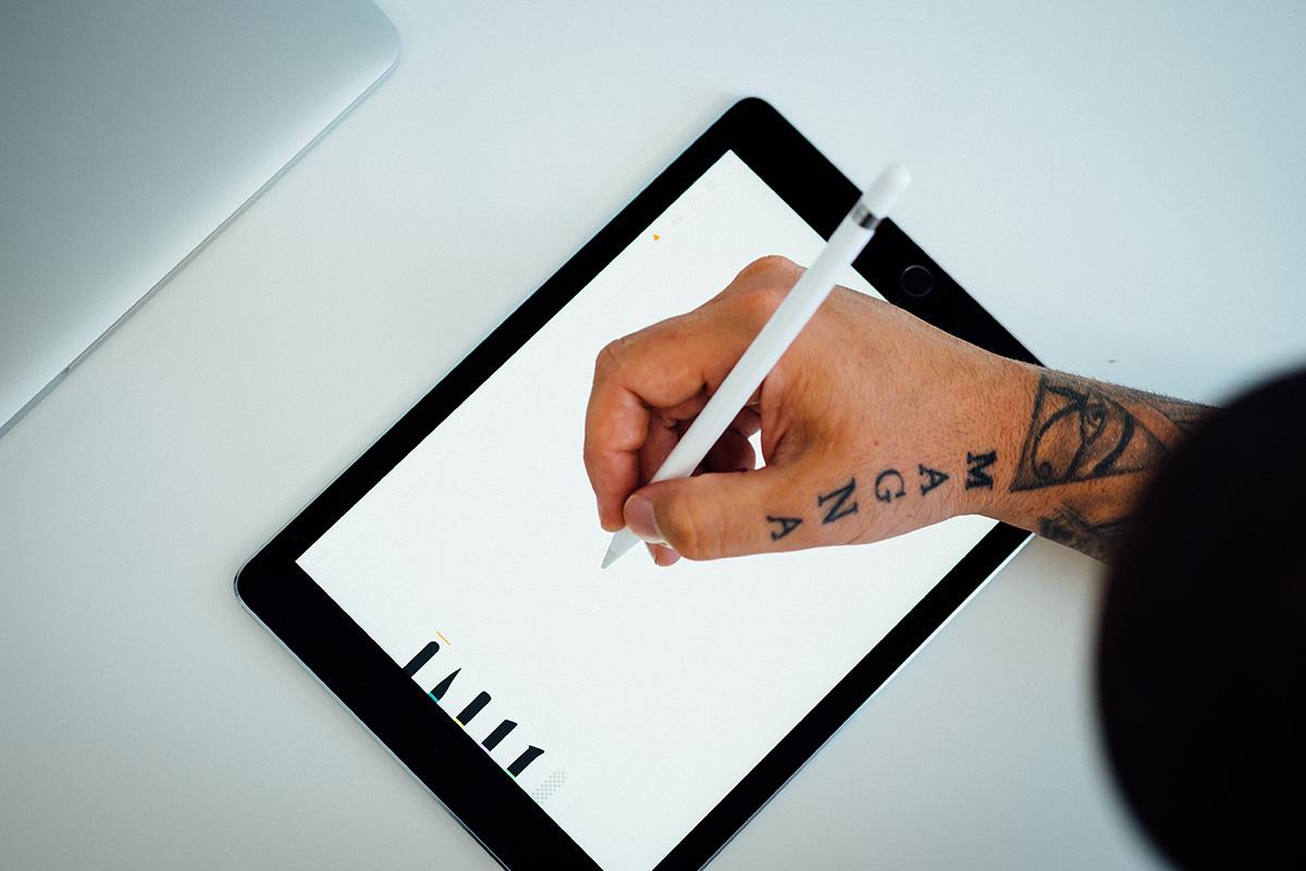 Un dessin sur Ipad