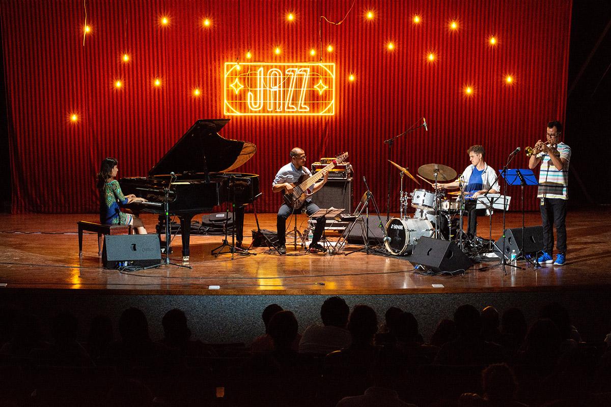 Quatuor de Jazz sur scène