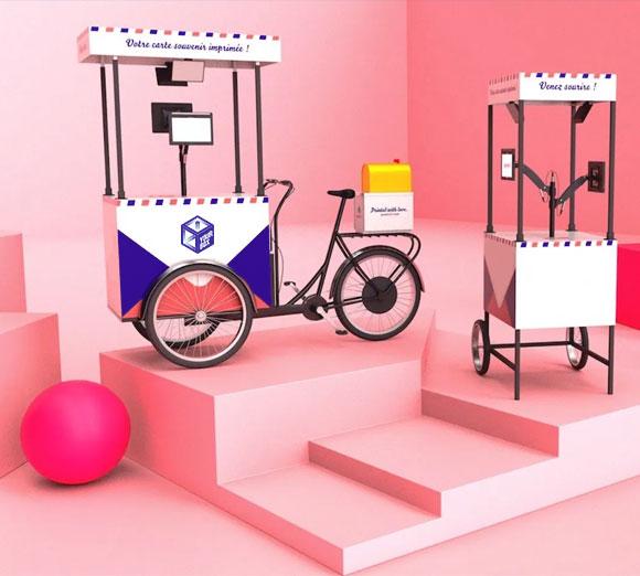 Vélo événementiel photobooth compact et écologique