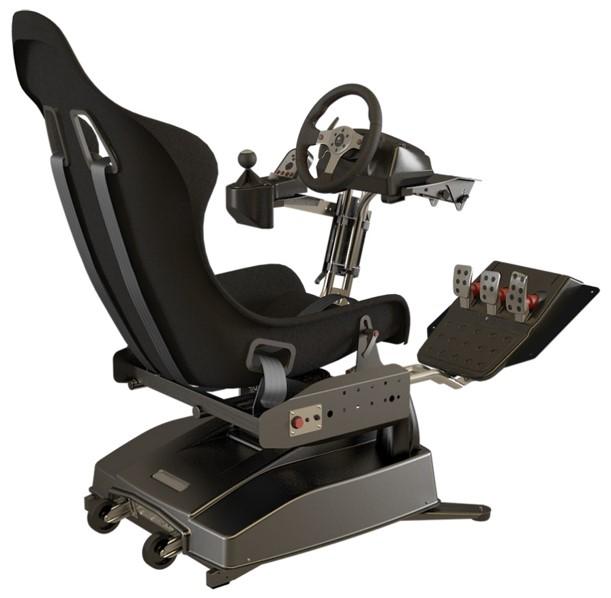 siège de simulateur de conduite en réalité virtuelle